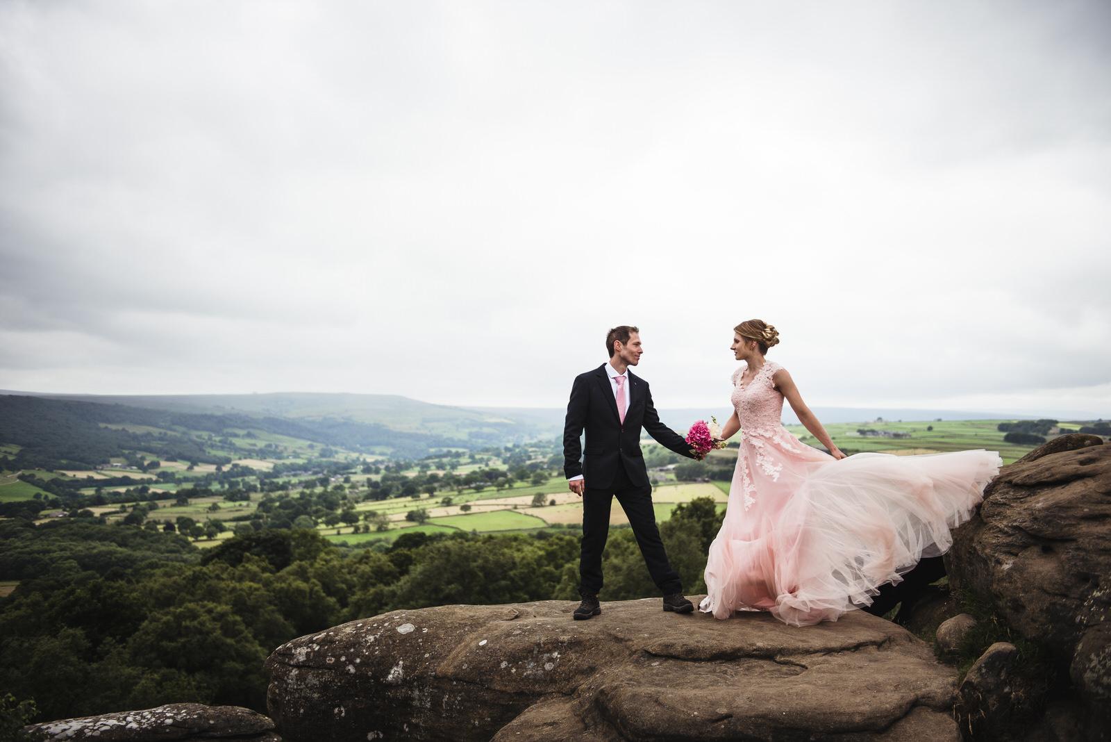 wedding portraits at Brimham Rocks