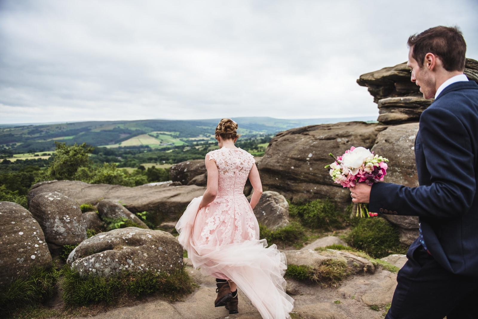 bride in her walking boots