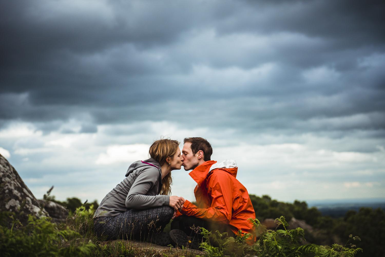engagement shoot at Brimham Rocks