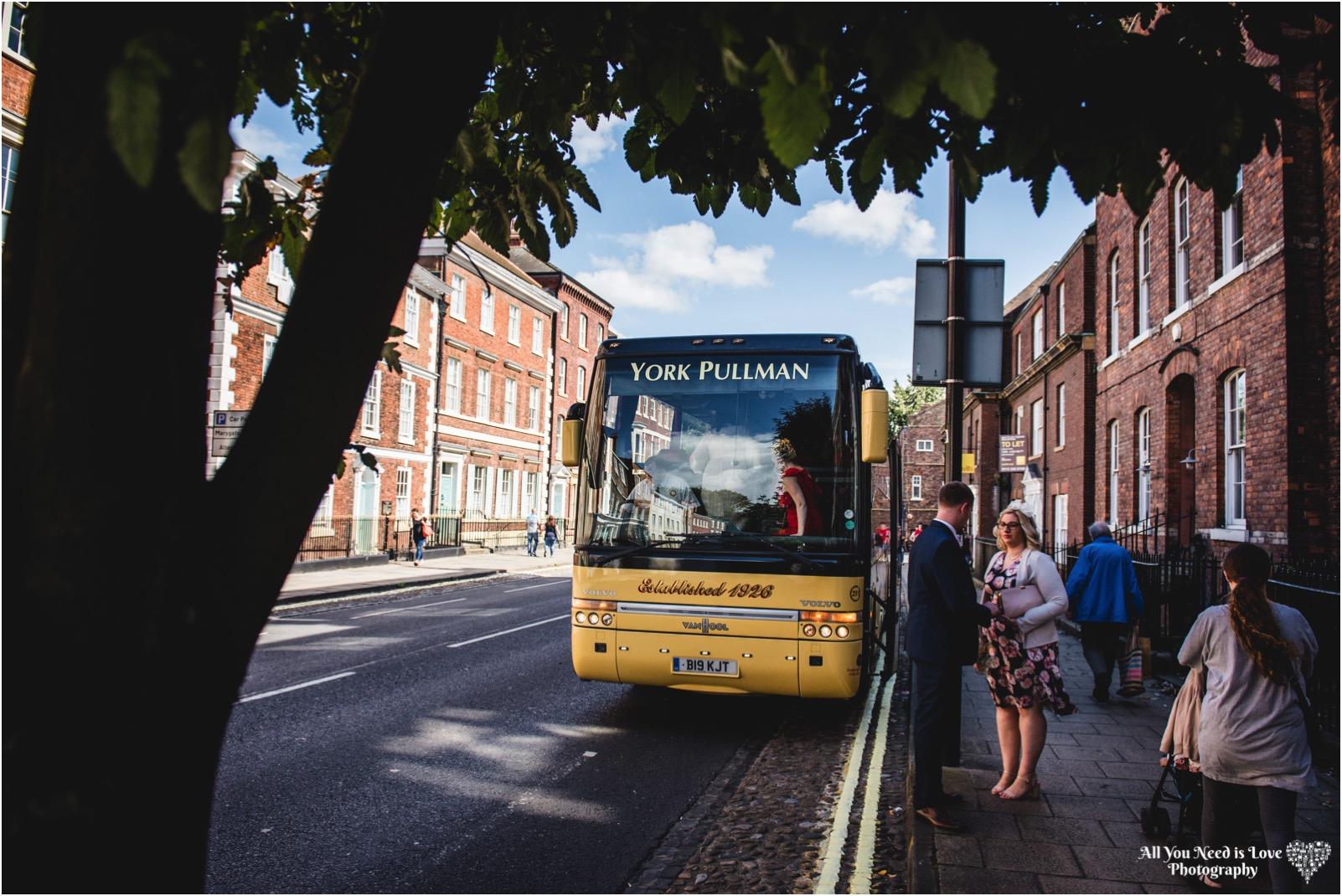 York Pullman Wedding Bus