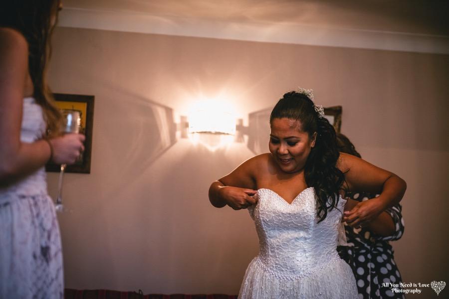 Bride getting ready York Wedding Photos