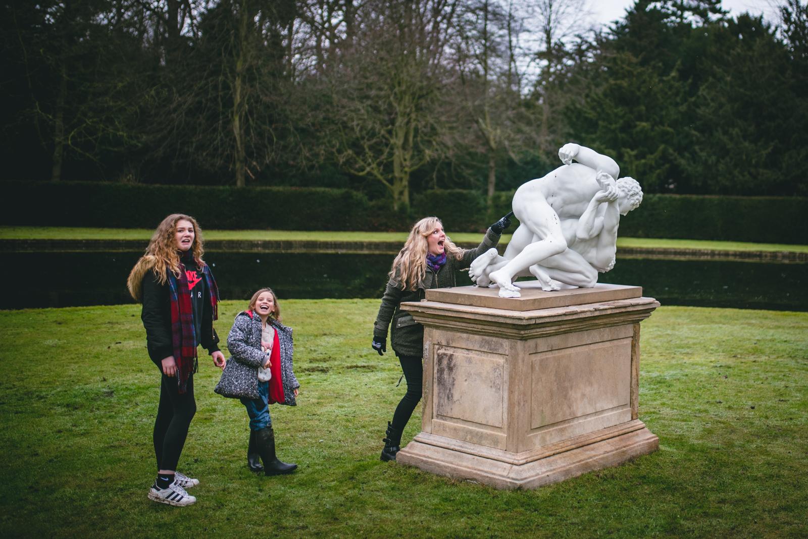 funny family photo Yorkshire
