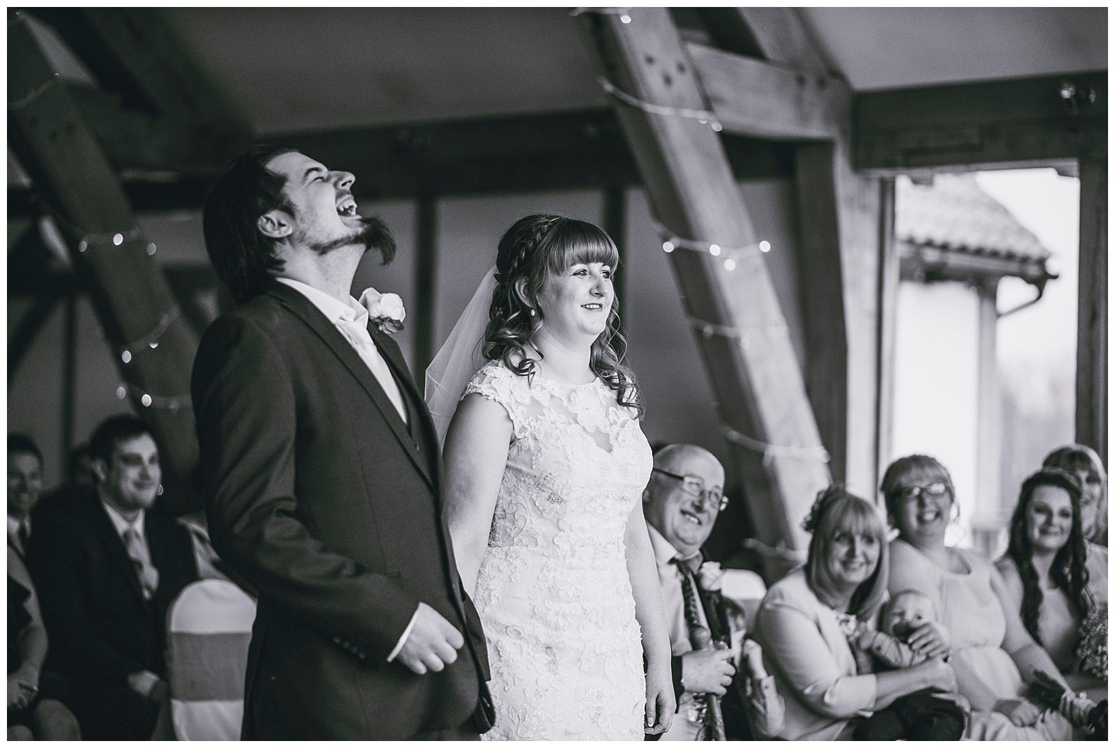 happy groom documentary wedding photos