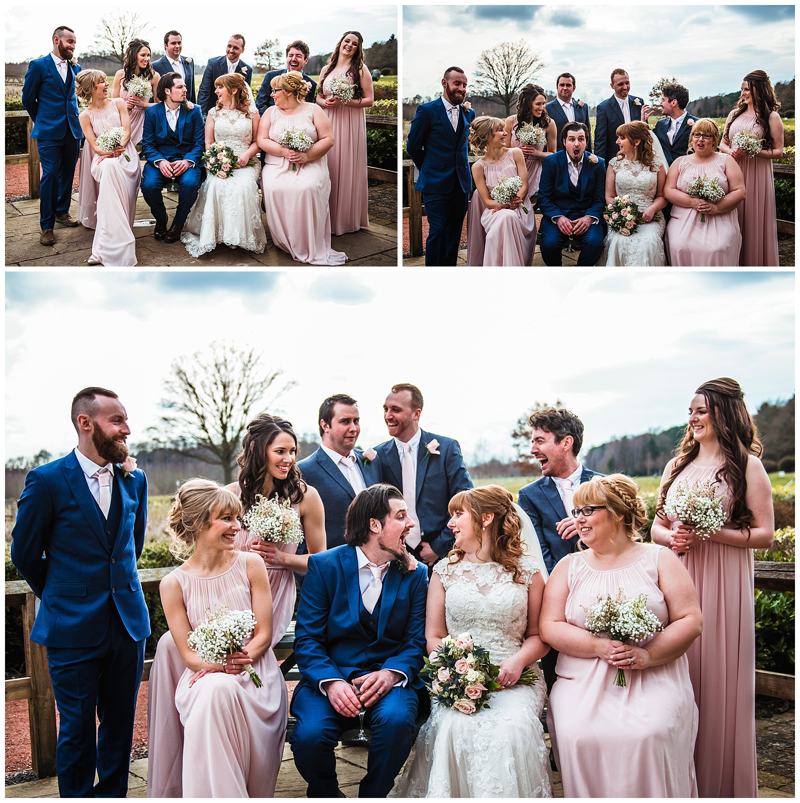 Fun group photos, York wedding photographer