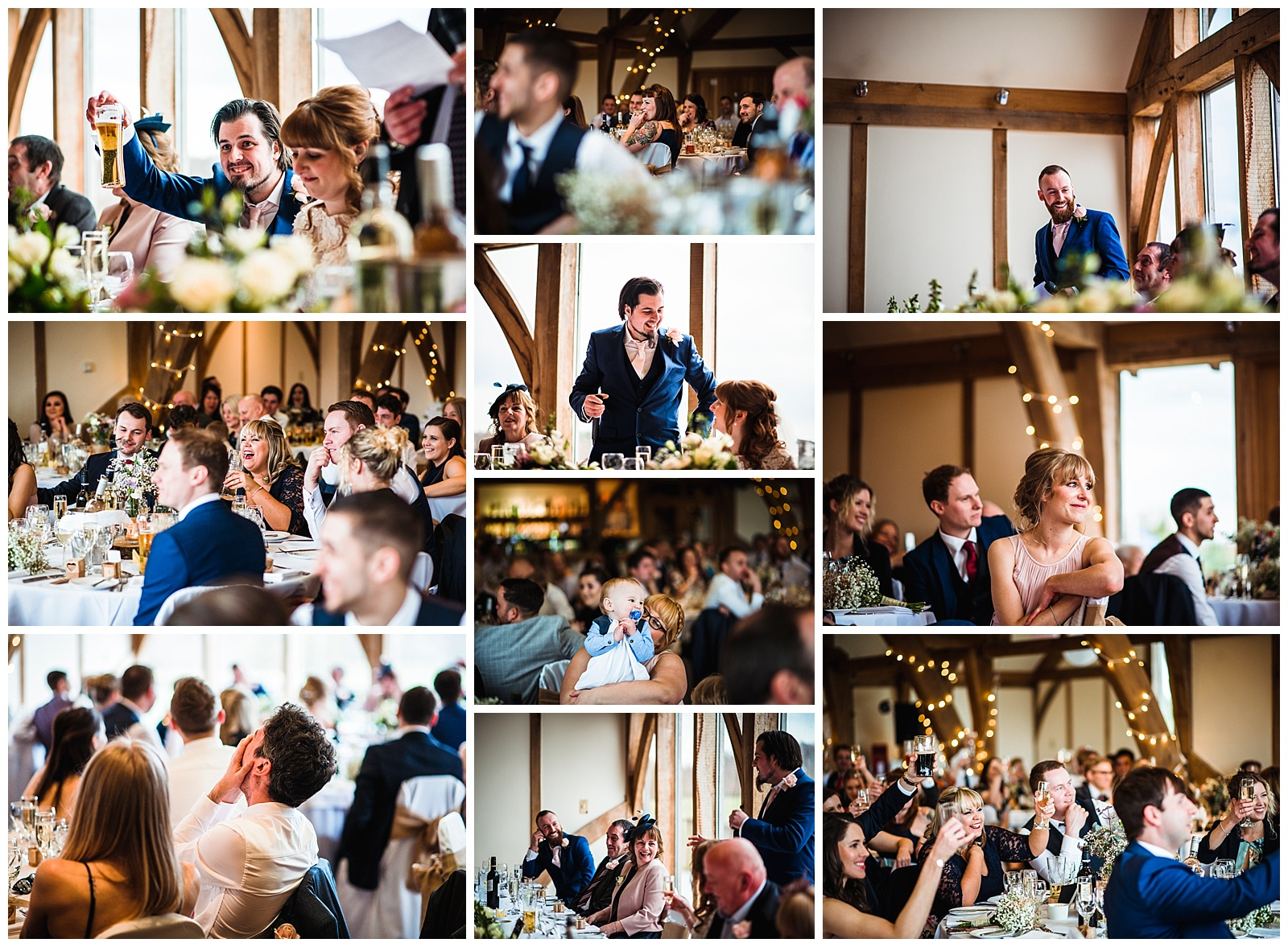 Wedding speeches at Sandburn Hall