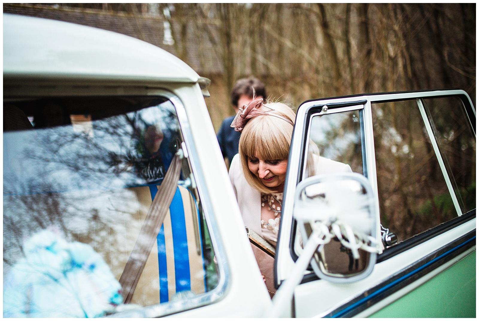 Vintage campervan York Wedding