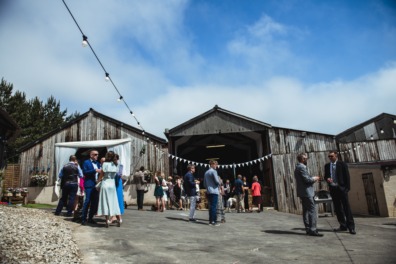 quirky Yorkshire barn wedding venue
