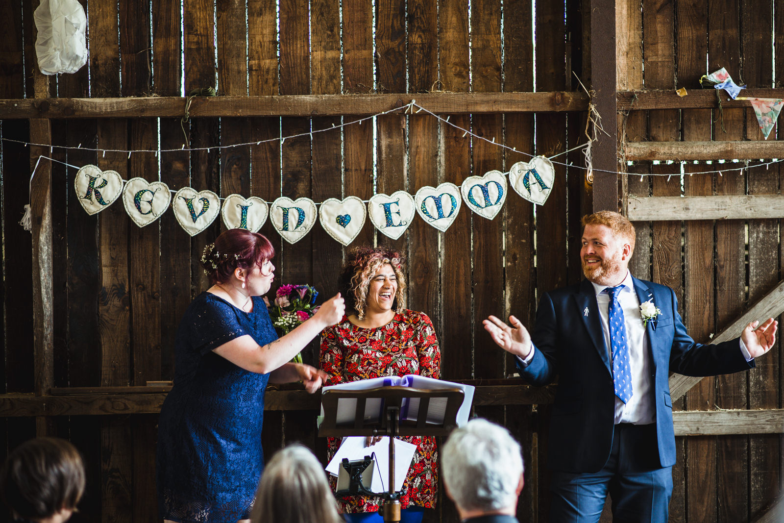 Quirky wedding ceremony