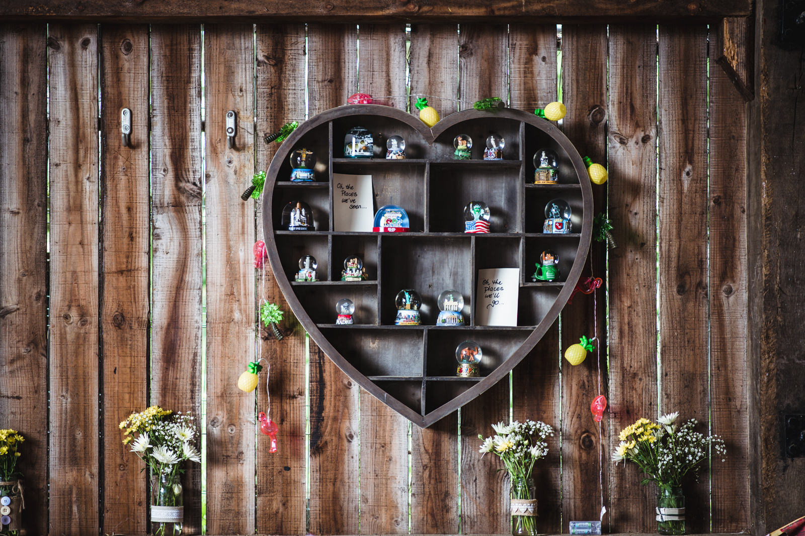 quirky wedding barn decorations