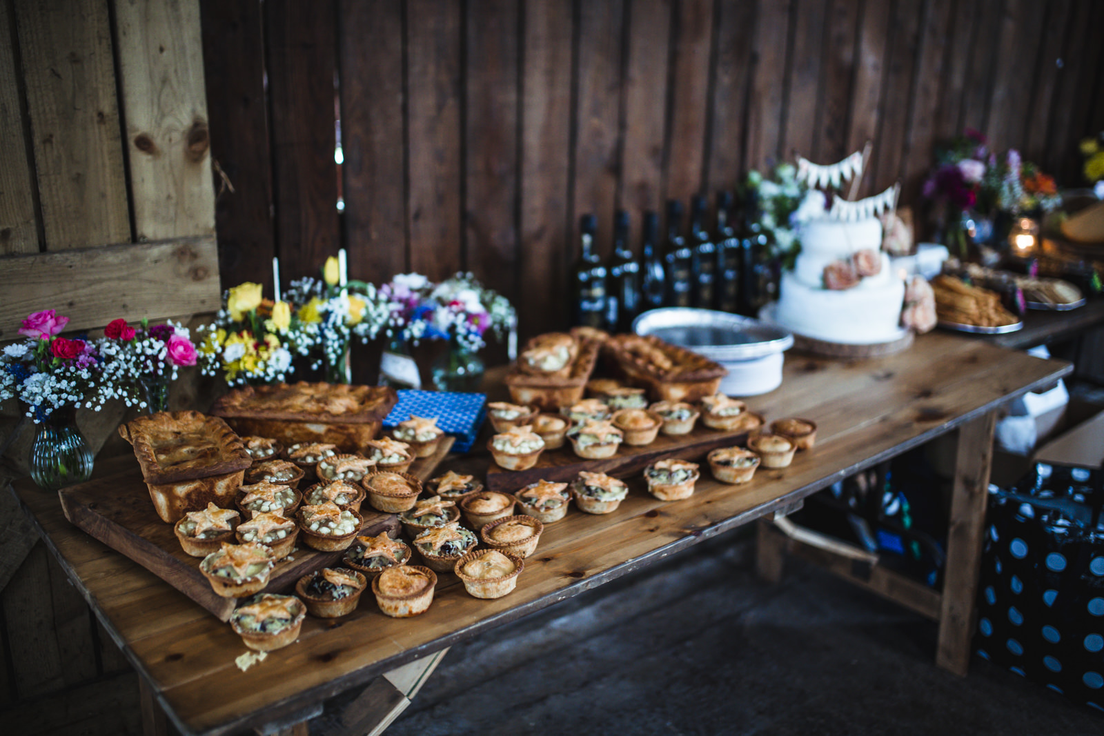 Pork pie wedding buffet