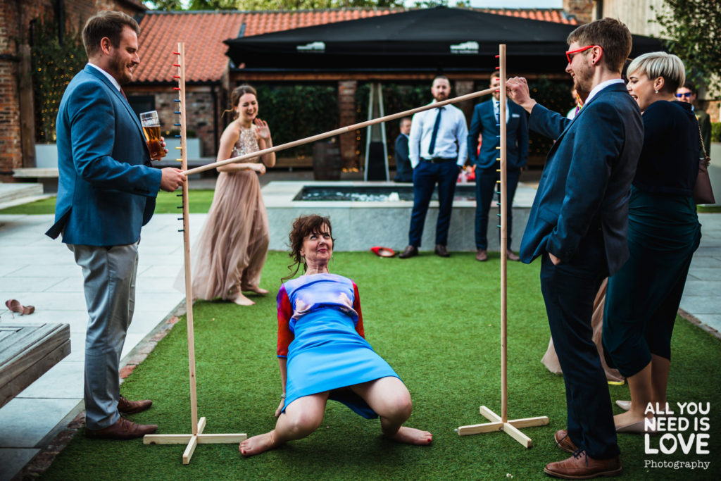 Outdoor games at thier wedding