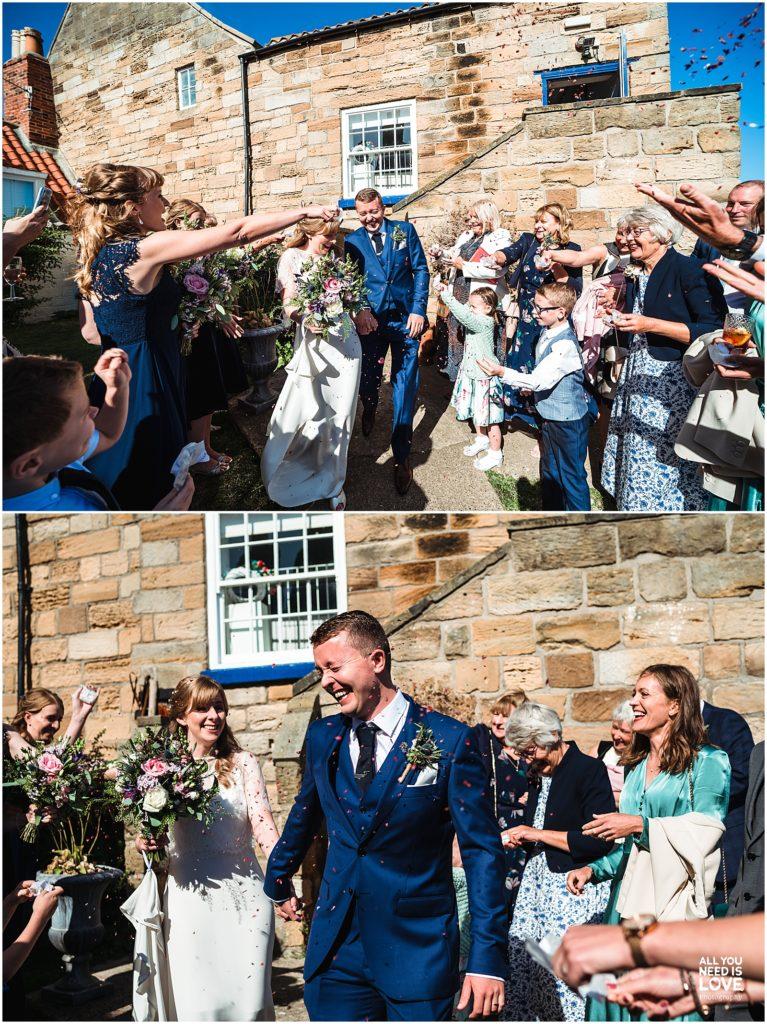 secret seaview chapel wedding North Yorkshire